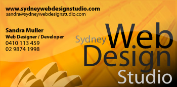 Business Card 3 for Sydney Web Design Studio in yellow